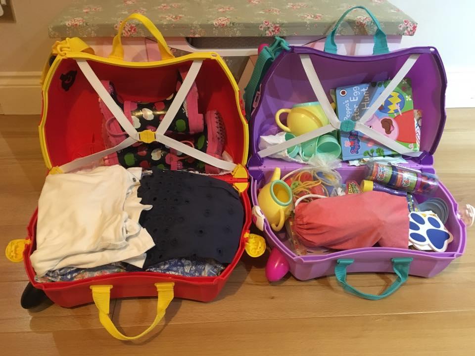 Trunki travel cases full of toys