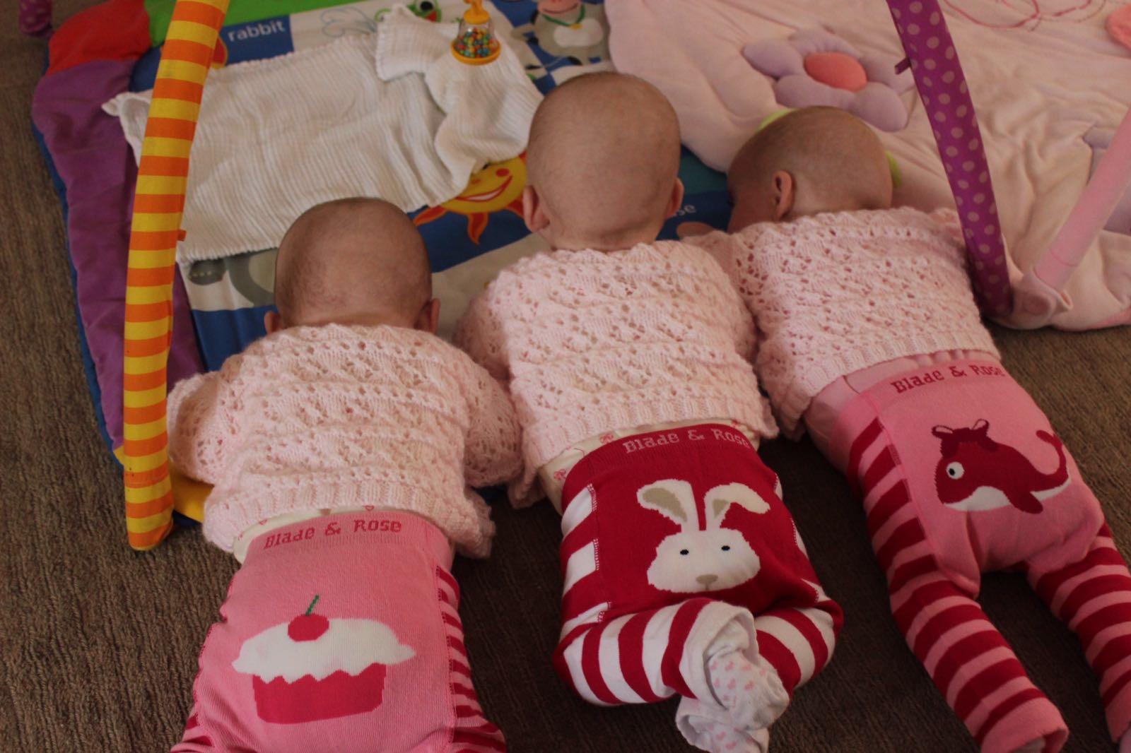 triplet-tummy-time