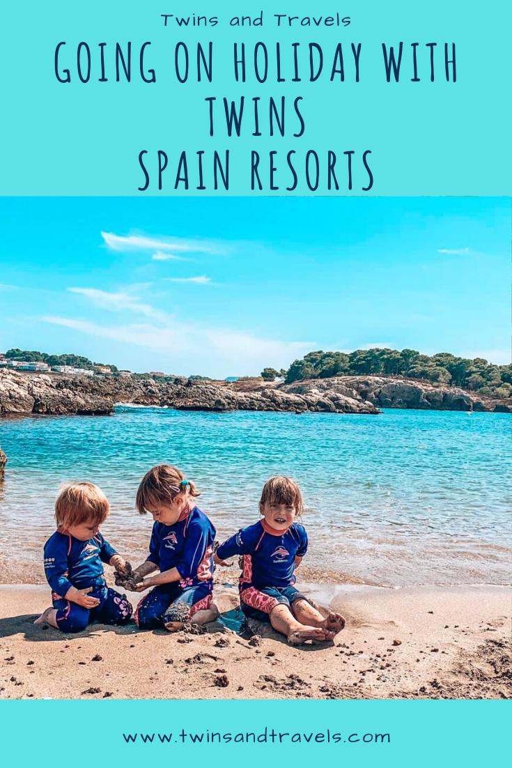 Spain holiday resorts pin