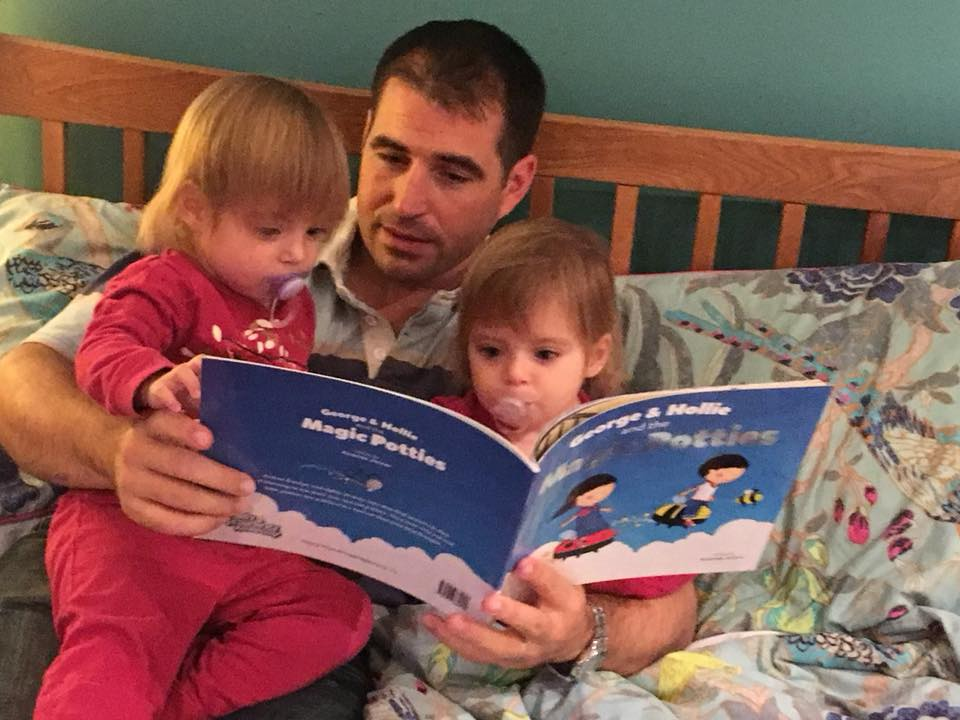 Daddy reading to twins - the ultimate guide to phonics for parents