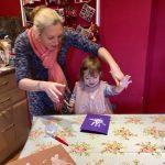 hand paining with mummy