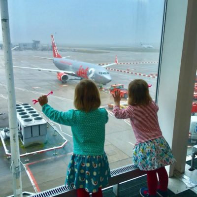 Surviving the Airport with Toddler Twins