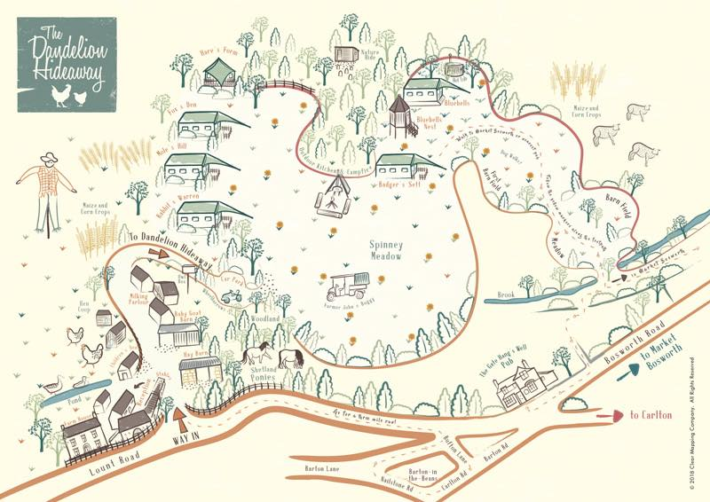 Map of the Dandelion Hideaway site