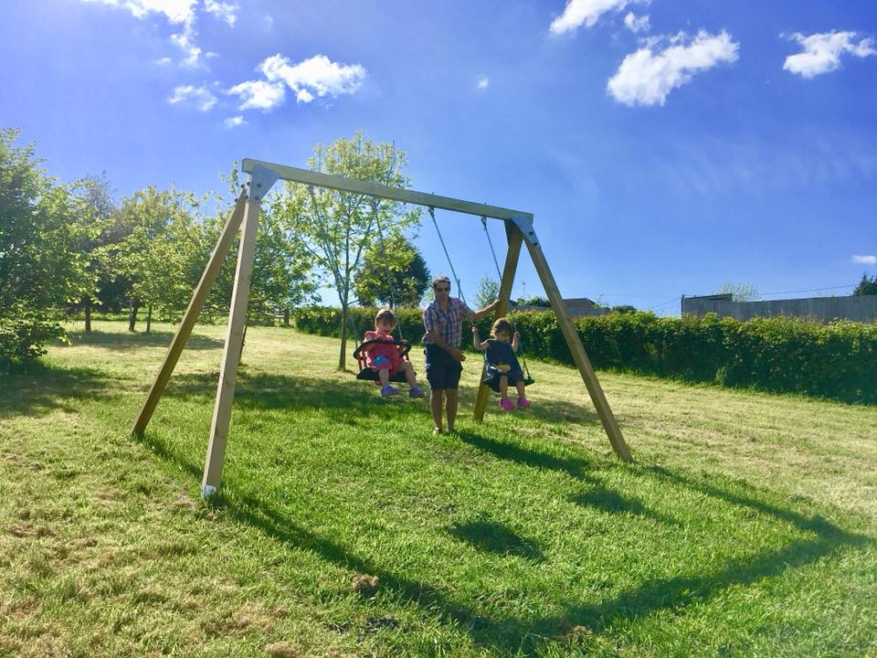 Outdoor play equipment for children at Greenwood Grange