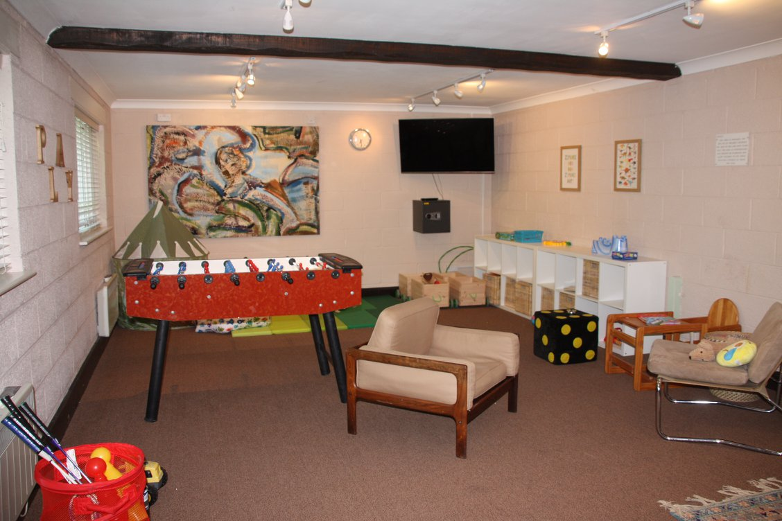 Indoor playroom at Greenwood Grange with