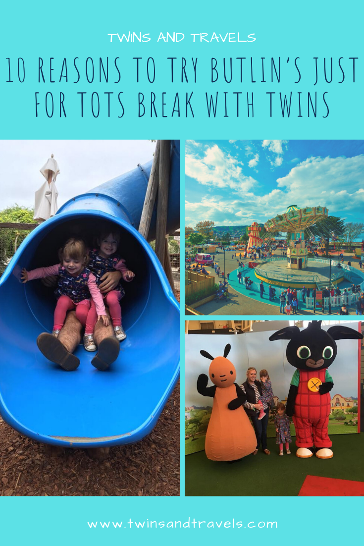 Pin 10 Reasons to Try a Butlin's Just For Tots Break with Twins