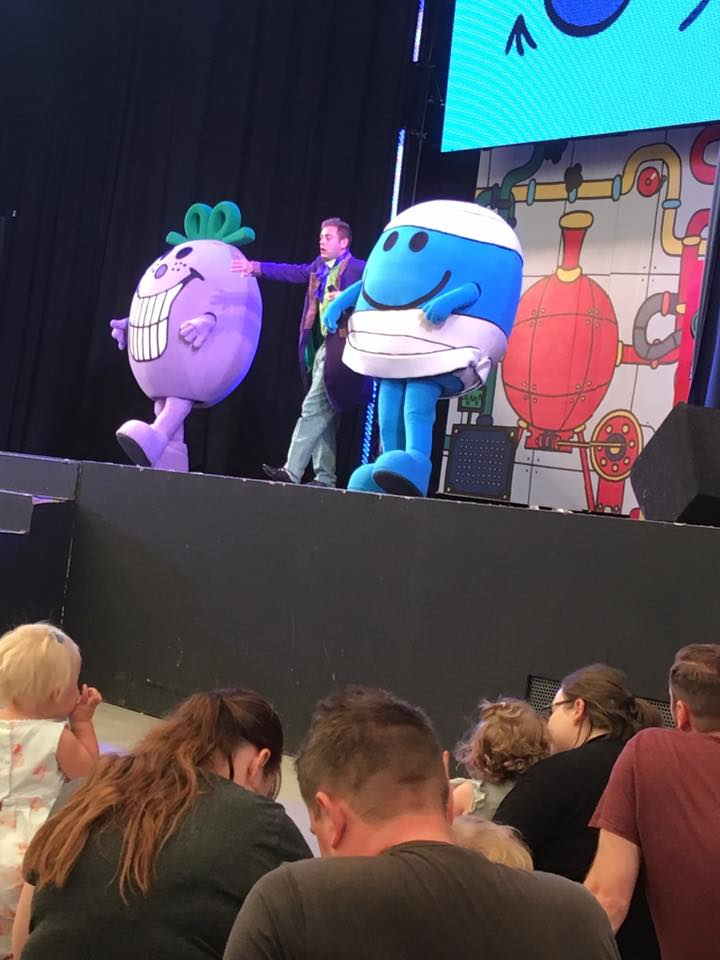 Mr Men performing at the Just for Tots weekend