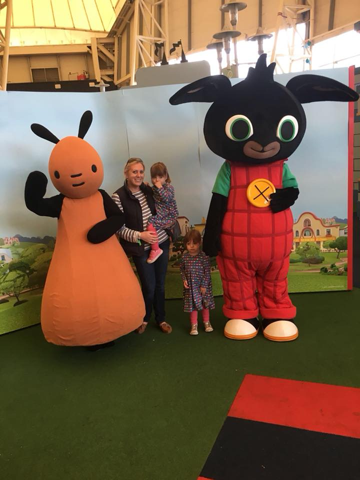 Butlins Just for Tots weekend twins photos with Bing Bunny