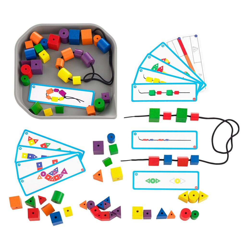 Fun Play Attribute colourful beads with cards