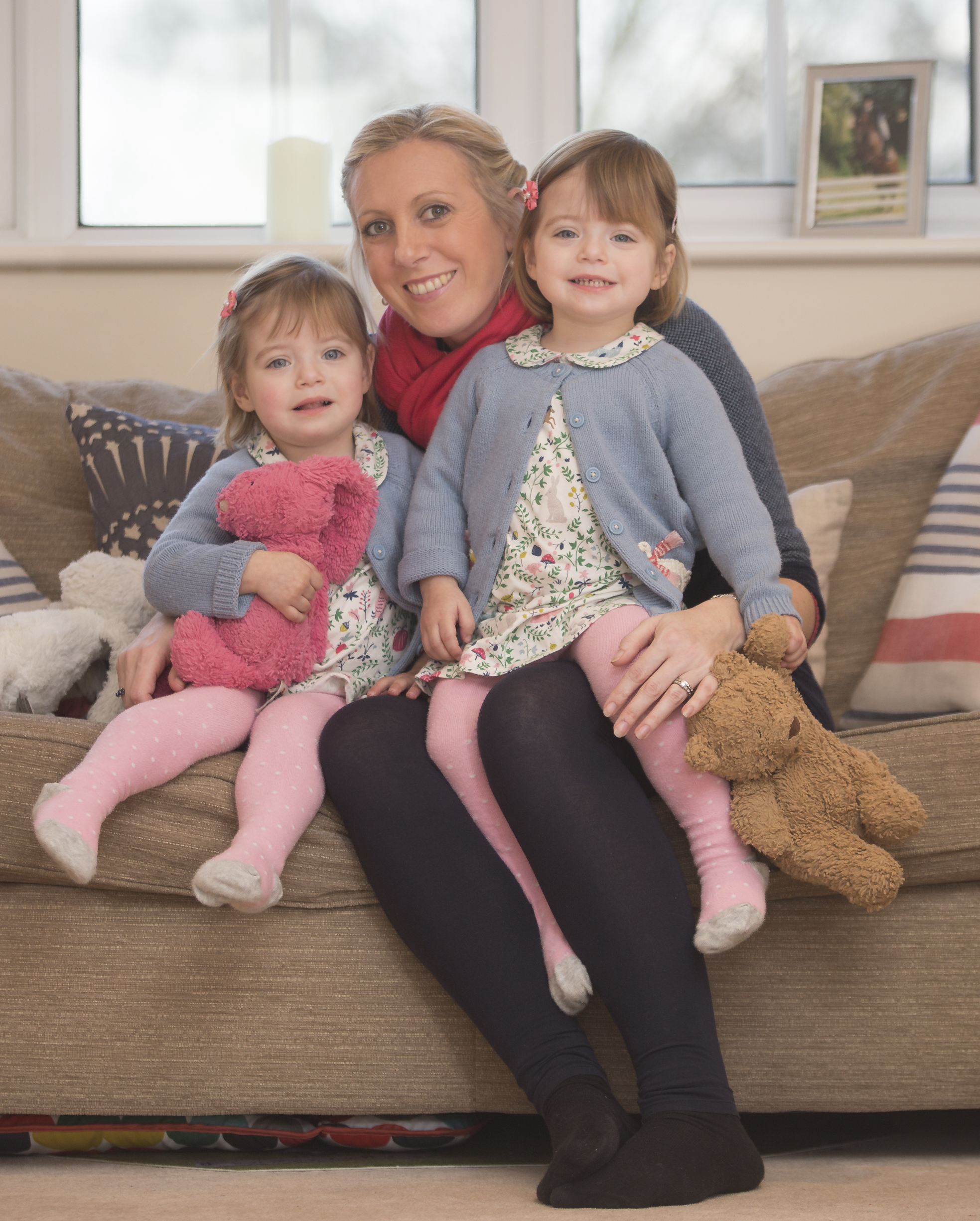 delaying school start with twins - mum and twins girls