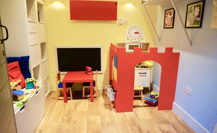 the playroom at The Cowshed in Dorset