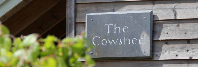 The cowshed sign