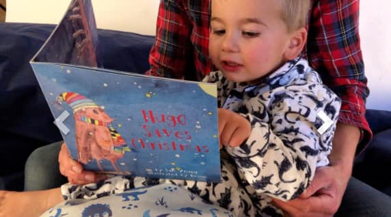This is nessy Personalised Christmas Story Book