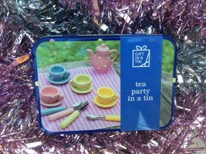 Tea party in a tin by present mill