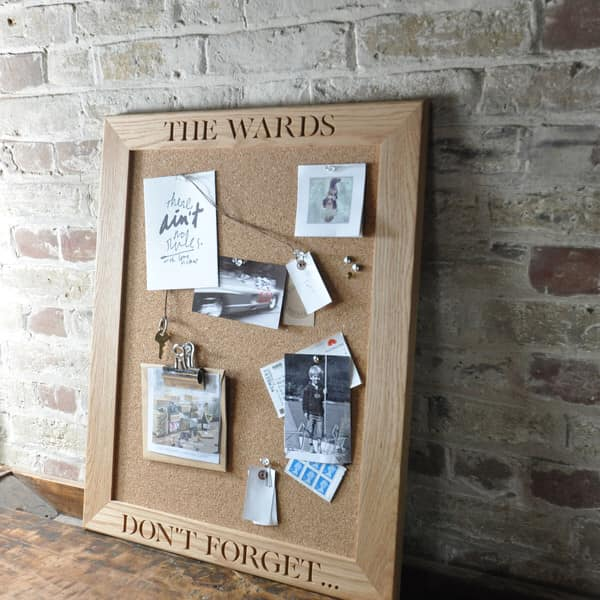 The Oak and Rope Company - Personalised Pin Boards