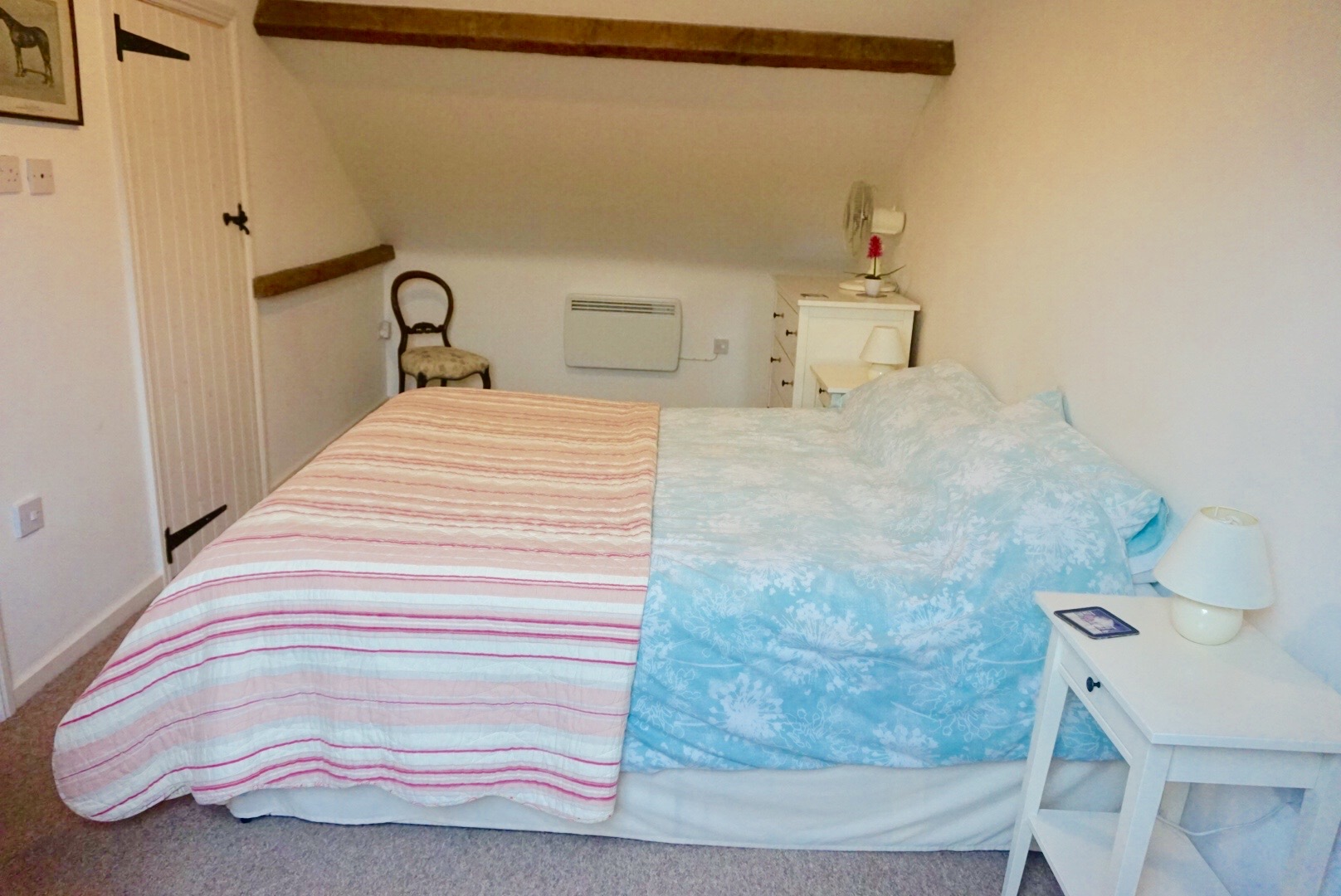 The bedrooms at kennel farm holiday cottage