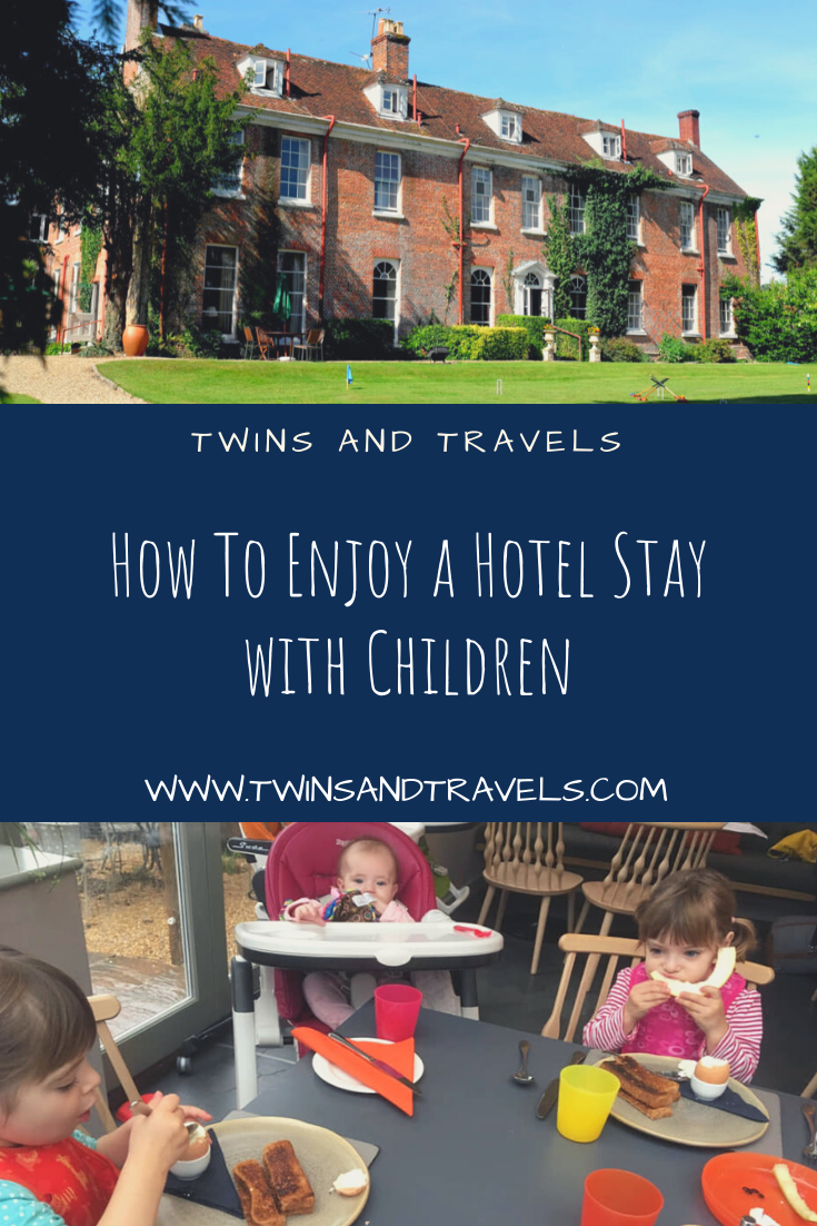 Staying in hotel with children pin
