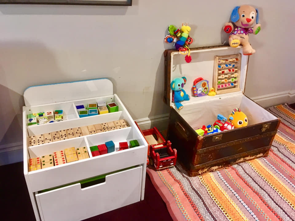 The toys in The Cinema Room at New Park Manor