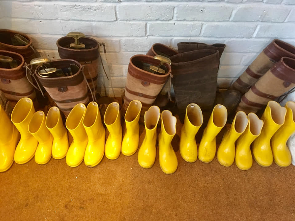 Wellies to borrow at New Park Manor
