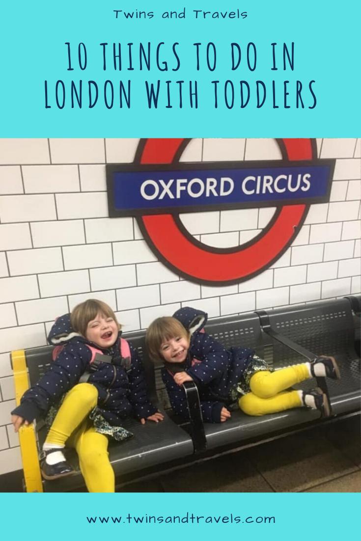 London with Toddlers pin