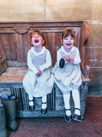 Twins at the The Woolly Grange in Wiltshire. A Luxury Family Hotel.