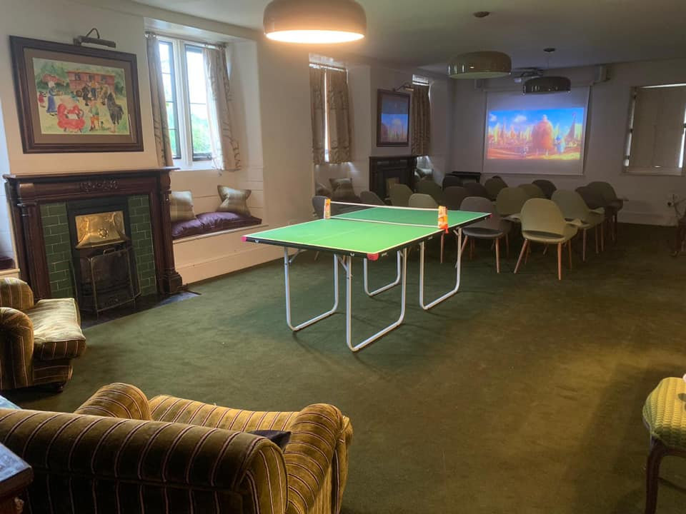 Cinema Room at The Woolly Grange in Wiltshire. A Luxury Family Hotel.