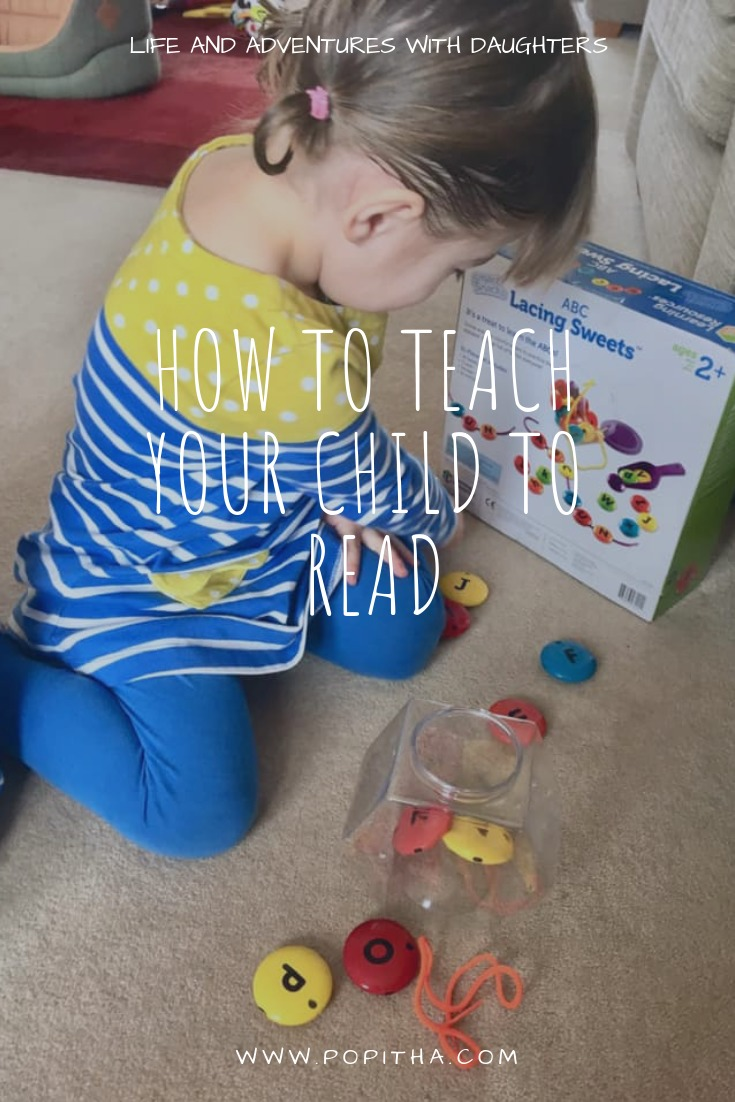 Learning to read through play with Learning Resources toys.