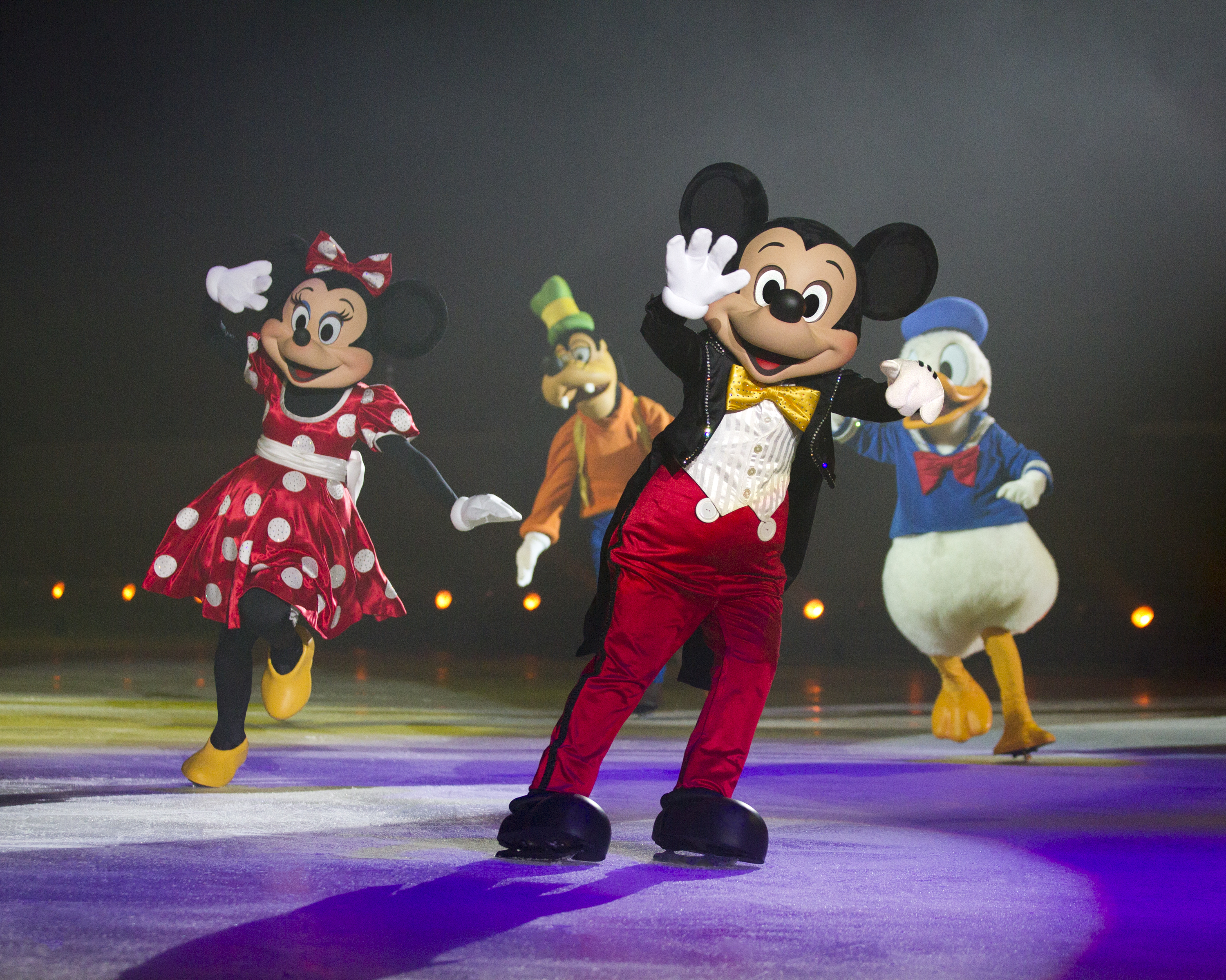 Micky Mouse performing on Disney On Ice