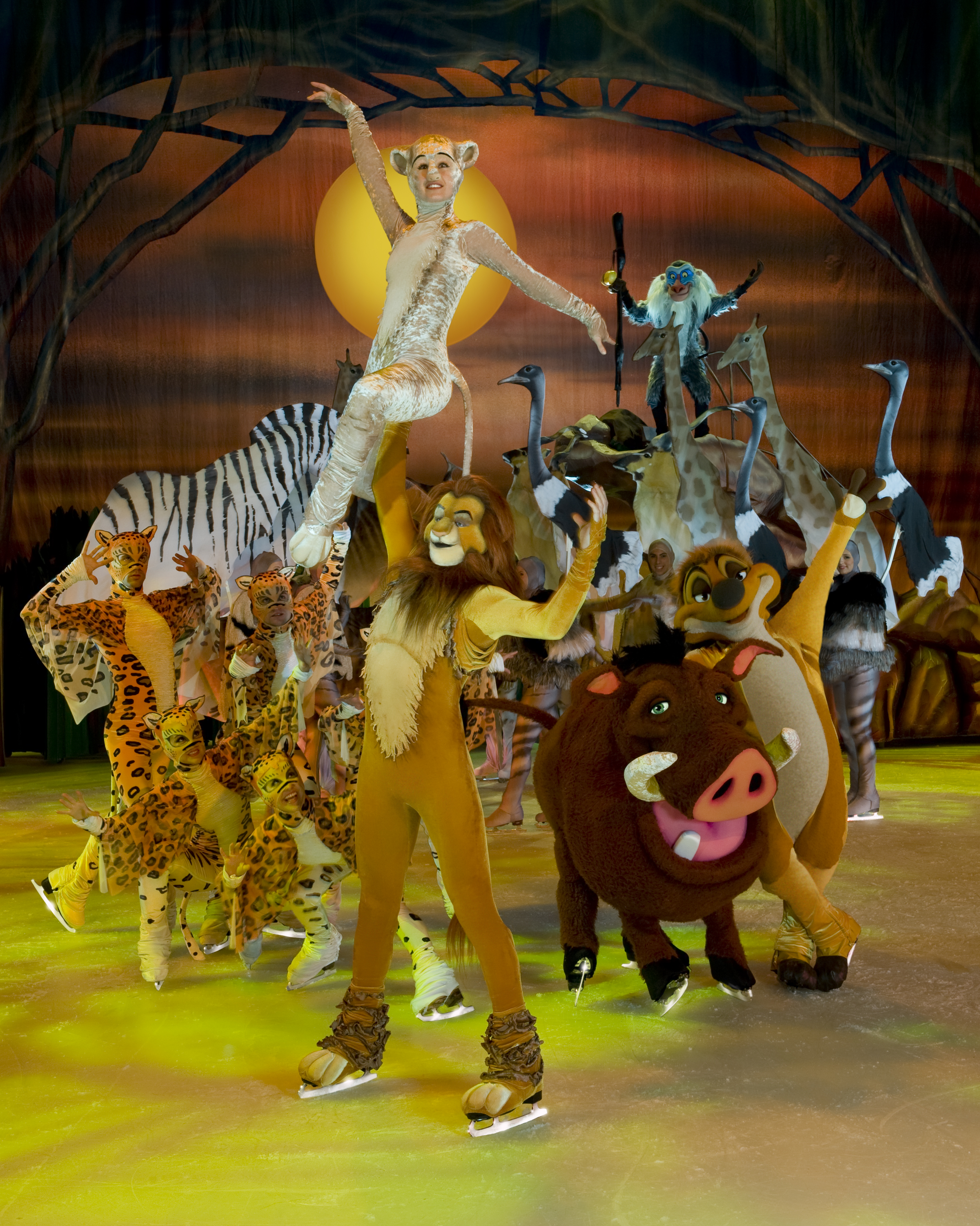 The Lion King performing on Disney On Ice