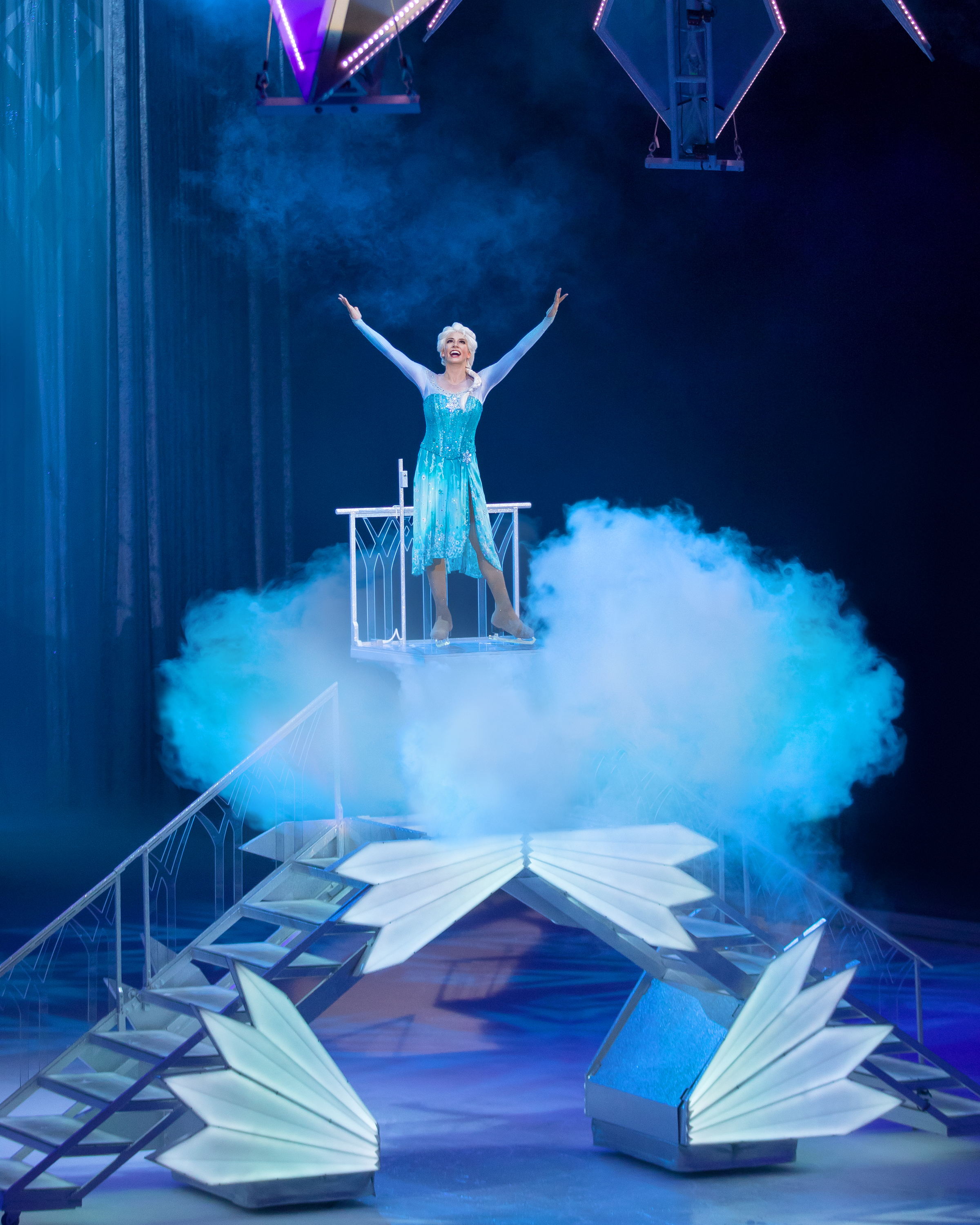 Elsa from Frozen performing on Disney On Ice