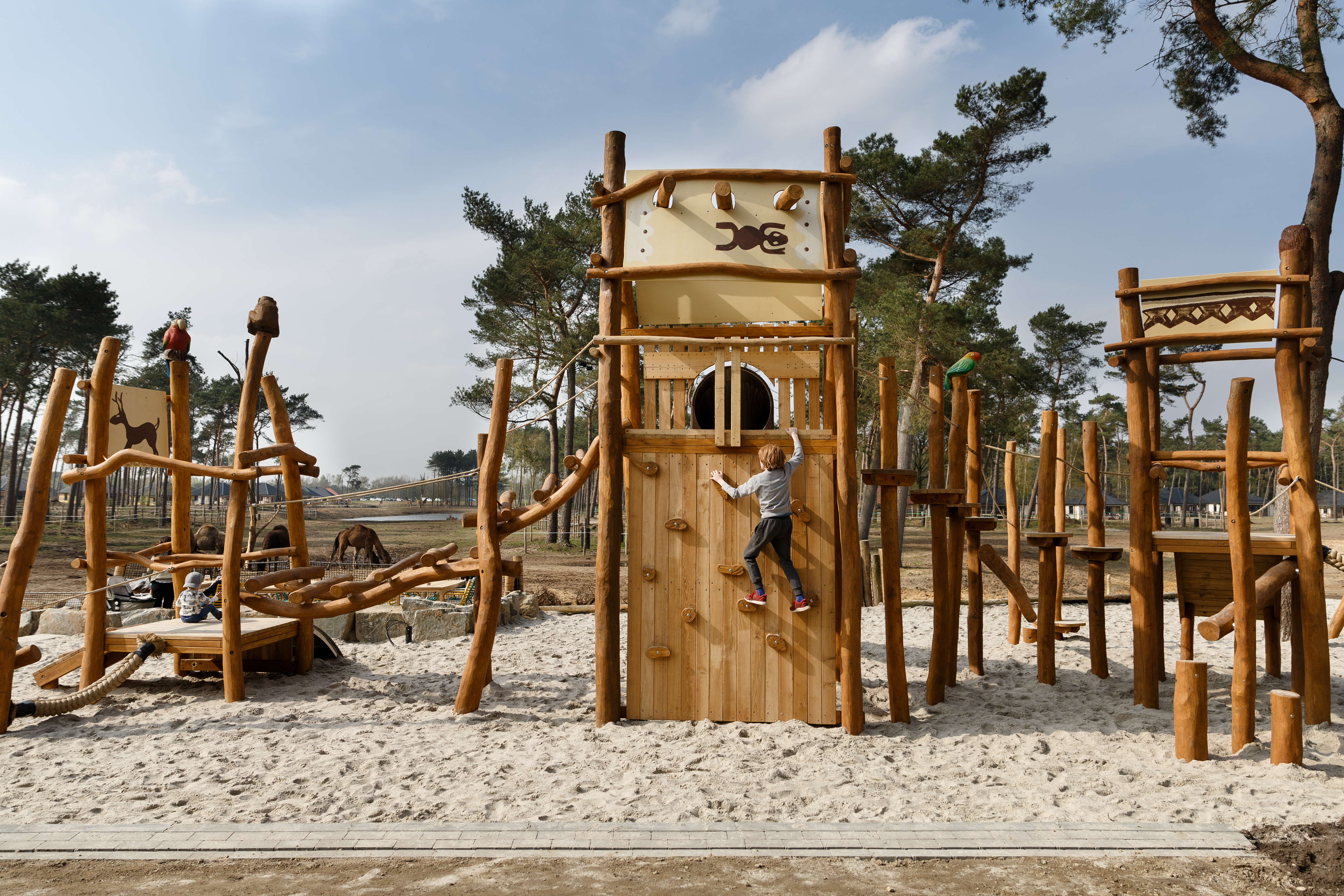 Beekse Bergan play area. Top child friendly holidays in Holland