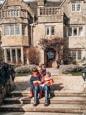 Outside at The Woolly Grange in Wiltshire. A Luxury Family Hotel.