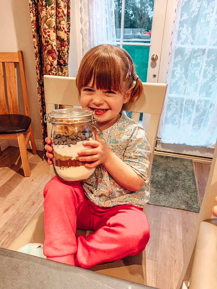 Making chocolate brownies at Spindle cottage. A family friendly cottage in the New Forest.