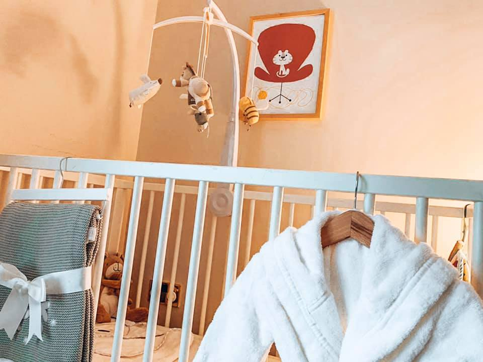 The baby room at Spindle cottage. A family friendly cottage in the New Forest.