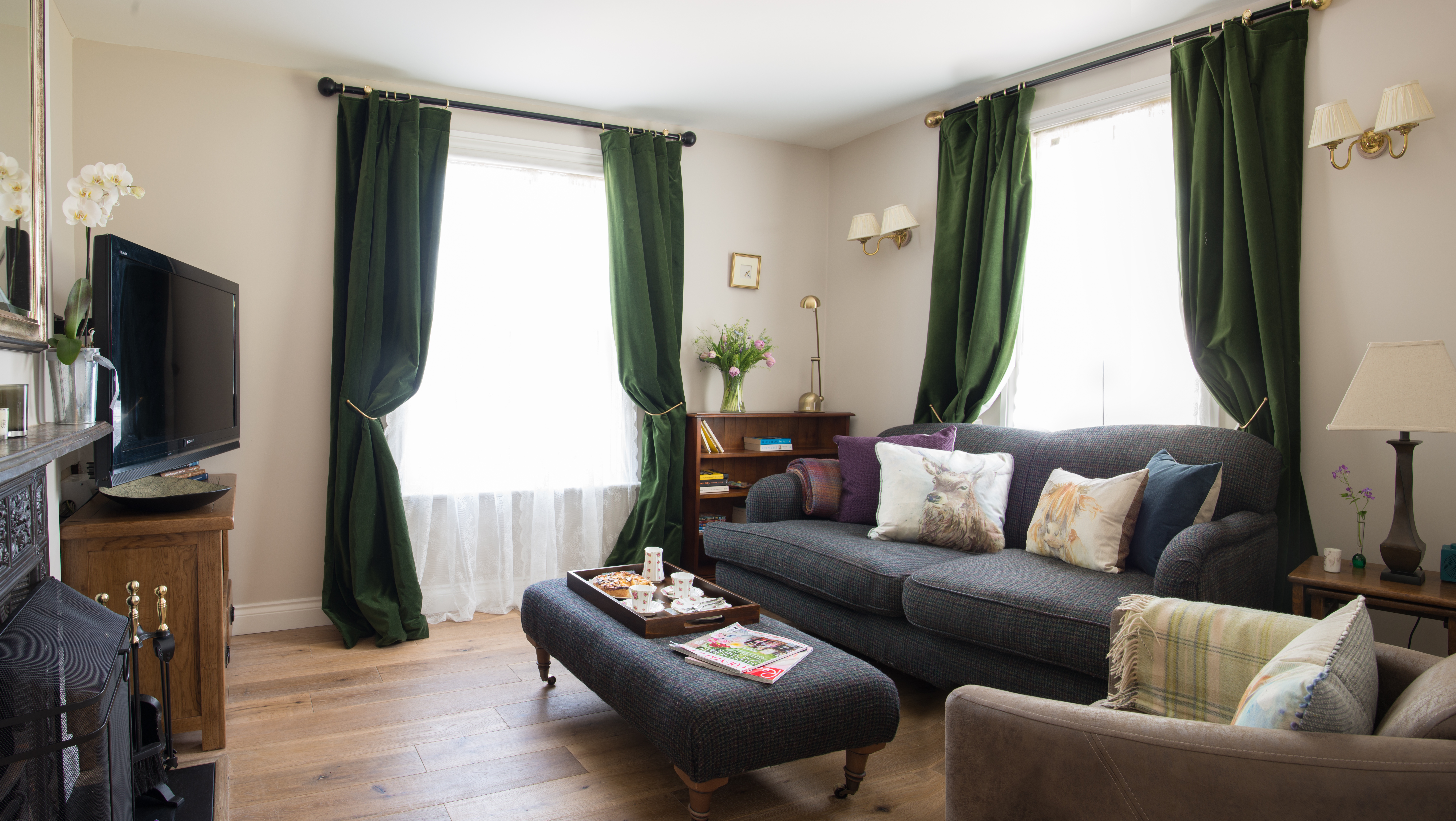 The lounge in Spindle cottage. A family friendly cottage in the New Forest.