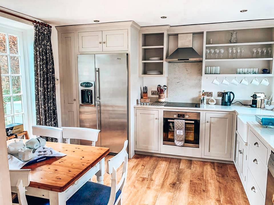 Kitchen in Epsom at Bruern Cottages