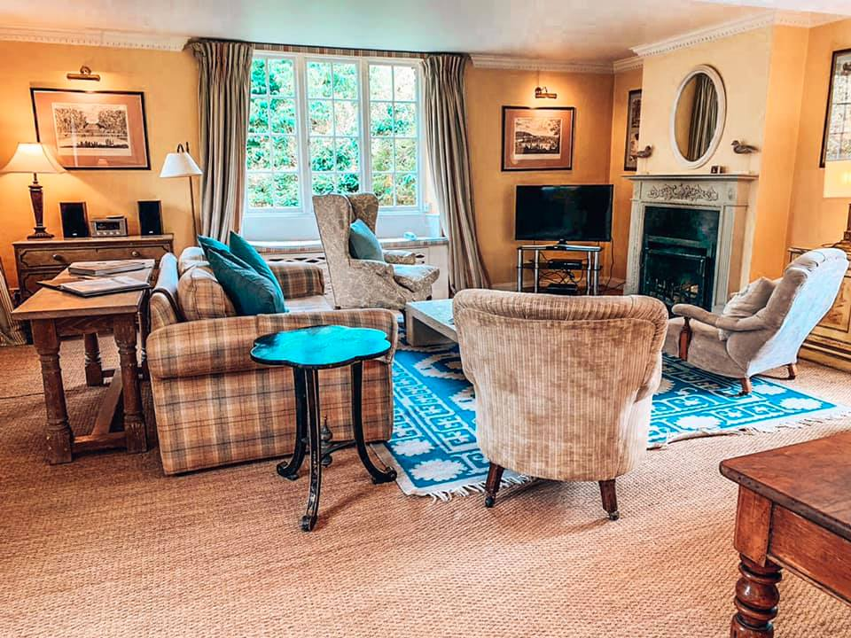 The Lounge in Epsom at Bruern Cottages the Cotswolds