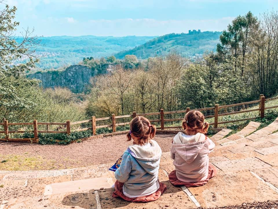 Heights of Abrahams which is close to Darwin Forest. Twins enjoying the view across the Peak District.