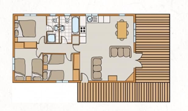 Layout of Darwin Forest lodge