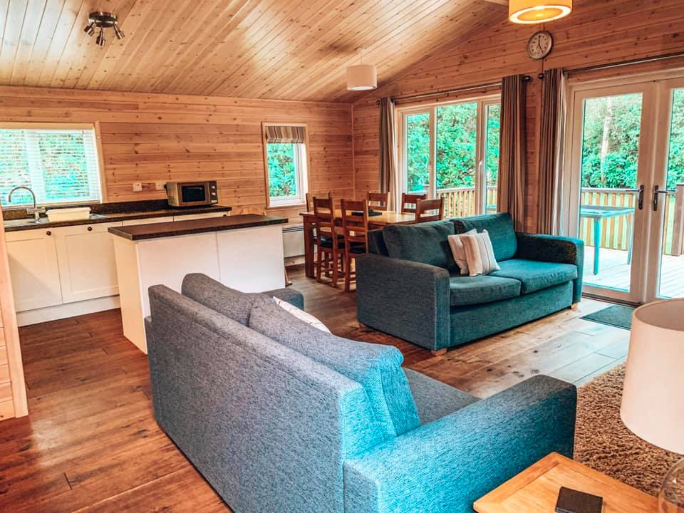 Inside of a luxury lodge at Darwin Forest