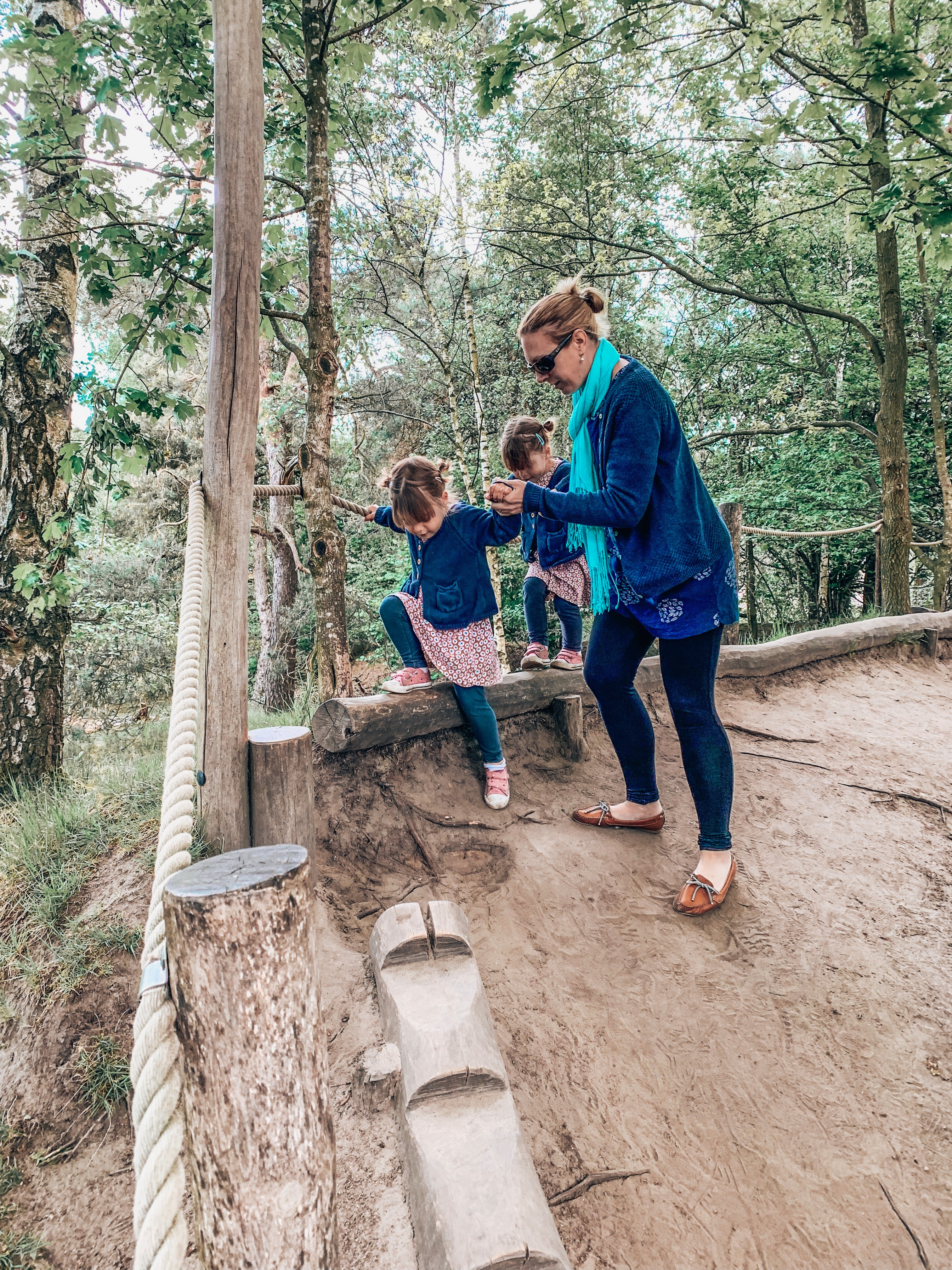 Trim trail at Beekse Bergen safari park. Places to visit in Holland