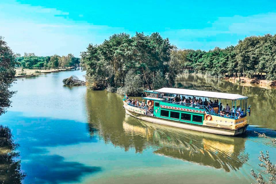 Safari Boat at Beekse Bergen Safari Park Holland