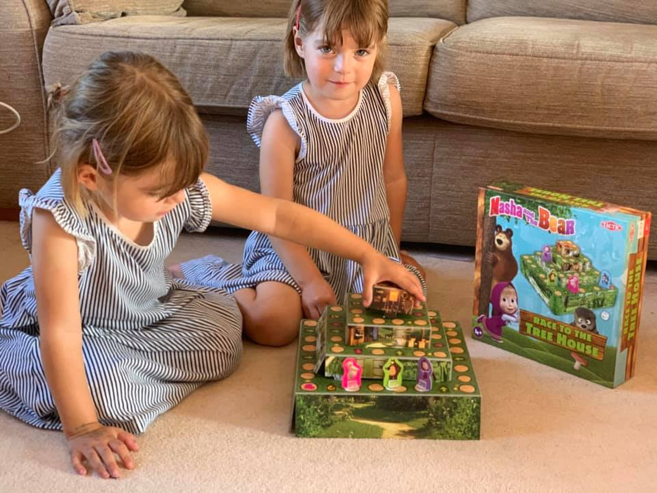 Marsha and the Bear game with twins playing together