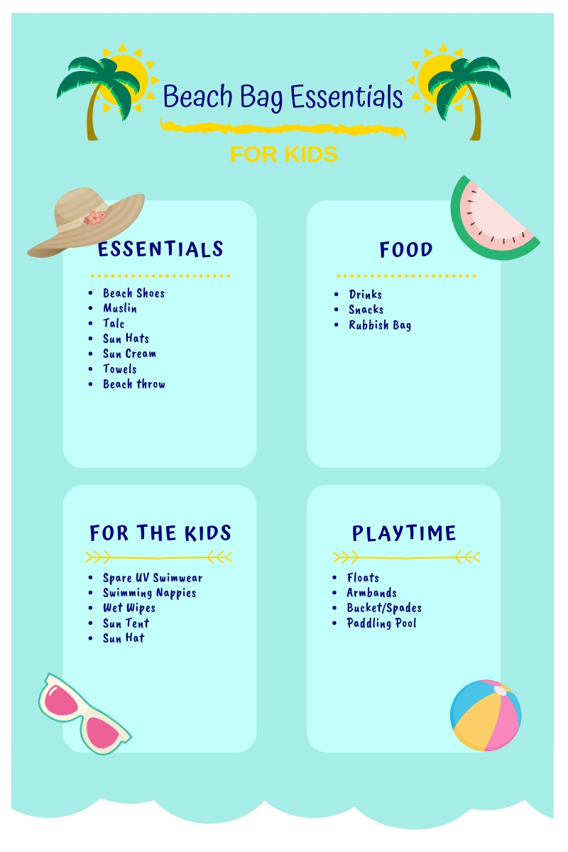 Beach Bag Packing List Printable