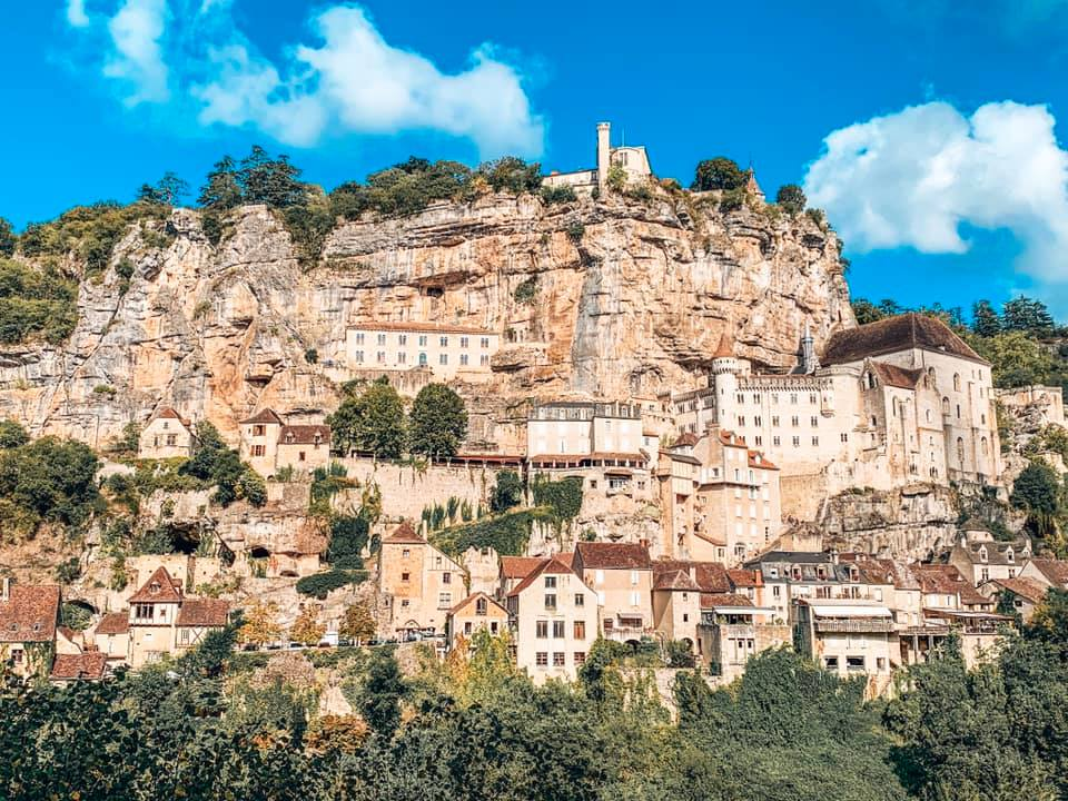 Rocamandour in France. The village on a cliff