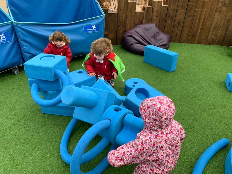 The Serendome Bluestone construction play area