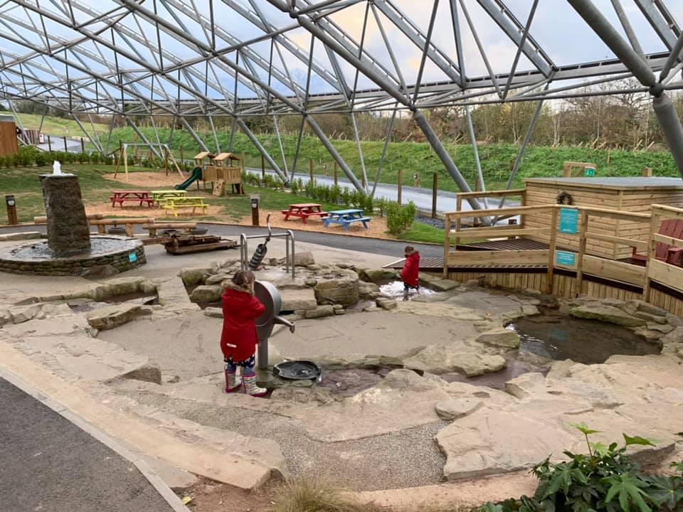 The Serendome Bluestone water play area