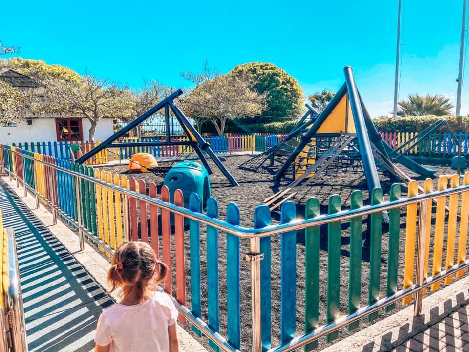 Large playground at Kikoland