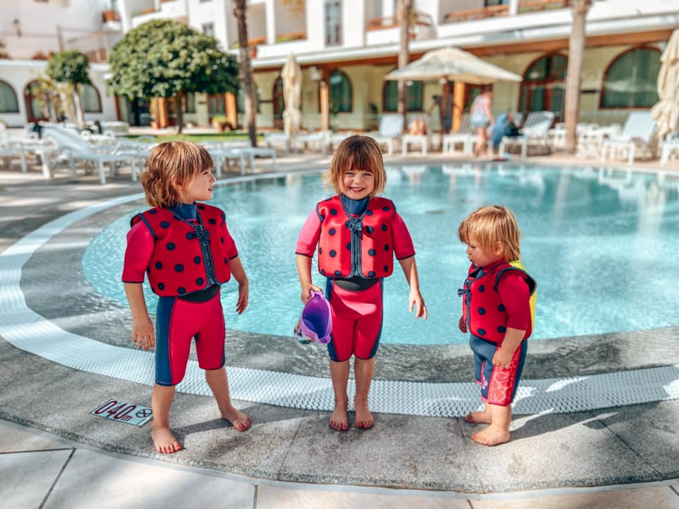 Toddler Pool off the family suites with children in their swim wear