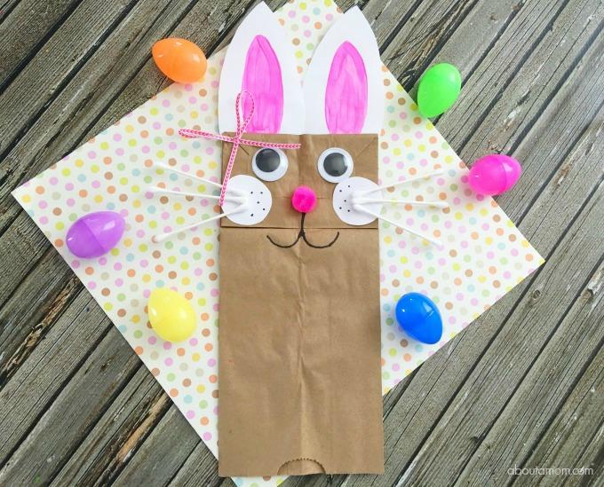 Easter brown paper bag craft bag